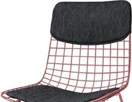 Stoel Hk Living : Hk living kissenset für stuhl wire schwarz designwohnen